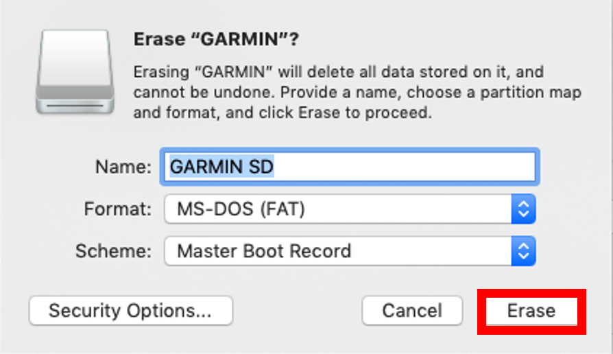Formatting a microSD/SD Memory Card | Garmin Support