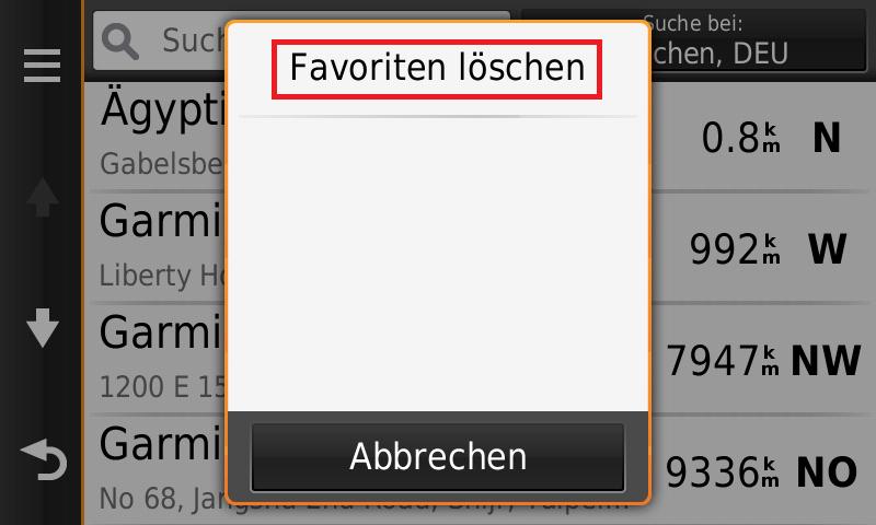 Löschen favoriten Lesezeichen löschen