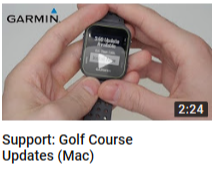 Update Golf Courses and Device Software on an Approach