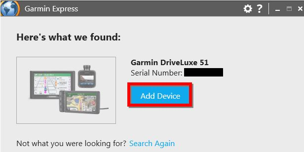 Registering my New or Exchanged Device Using Garmin Express | Garmin