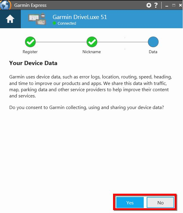 Registering my New or Exchanged Device Using Garmin Express