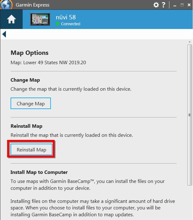 Reinstall or Change Map on an Automotive Device | Garmin Support