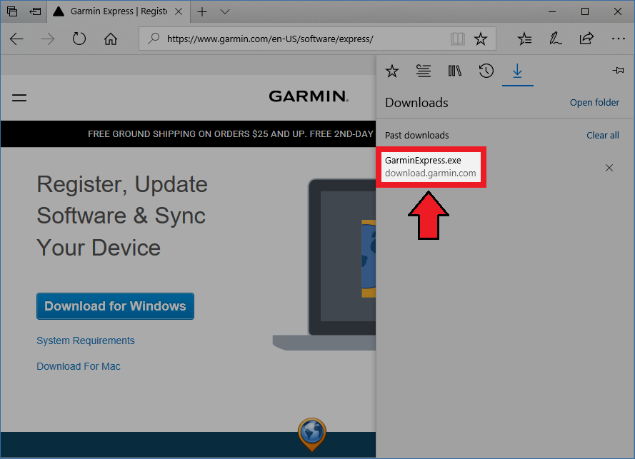 Opening a Downloaded File on Windows | Garmin Support