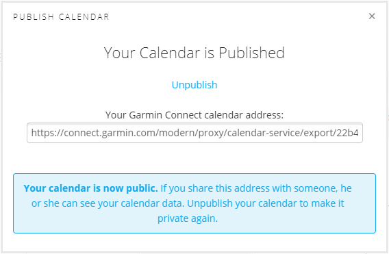 Sharing a Garmin Connect Calendar | Garmin Support