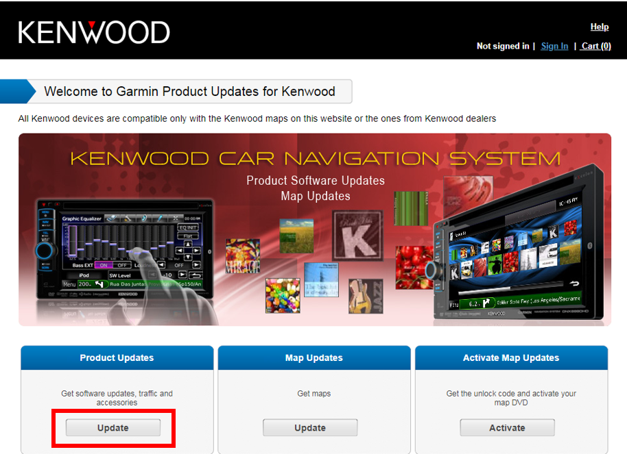 Kenwood DNX7140/9140 Navigation Screen Freezing, Unresponsive and/or
