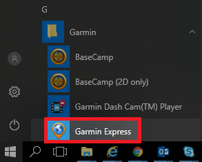 Automotive Device Not Detected by Garmin Express on a Windows
