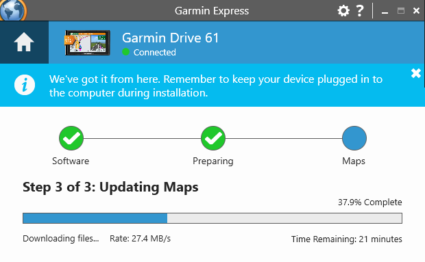 Updating Automotive Maps and Software with Garmin Express