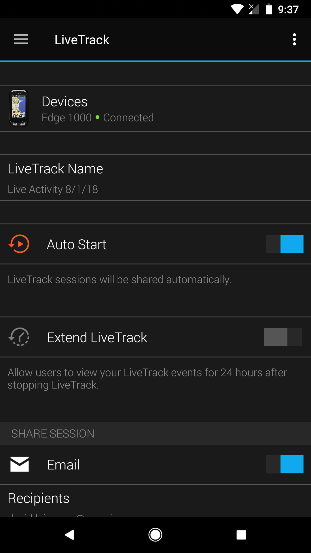 Setting up Strava Beacon in the Garmin Connect App | Garmin Support