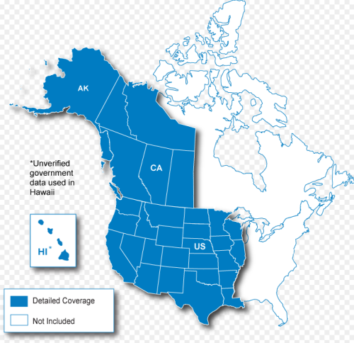 North American Map Regions | Garmin Support