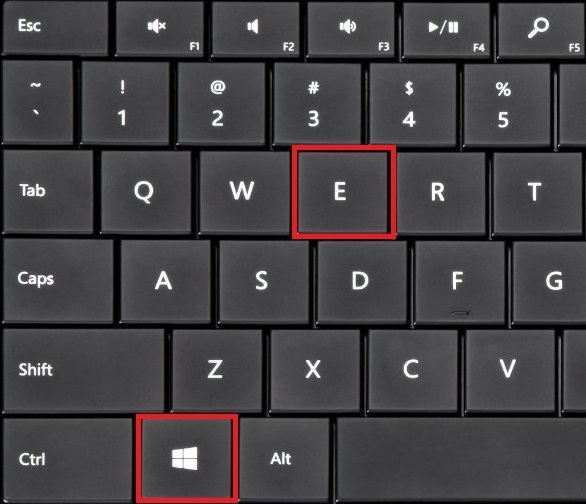Press the windows key and E at same time.