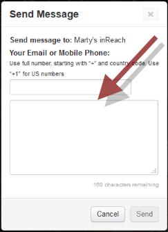 Send a Message to an inReach Device   Garmin Support