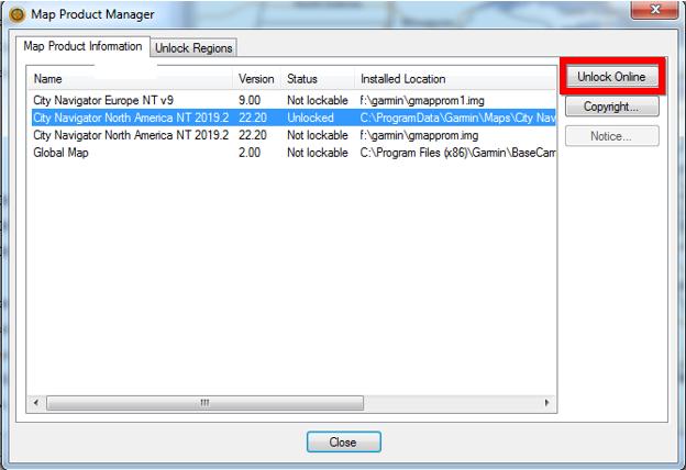 Unlock Maps in BaseCamp | Garmin Support