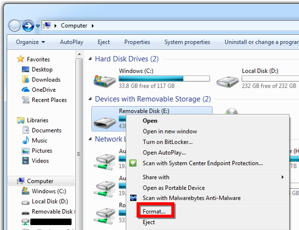 Formatting a microSD/SD Memory Card   Garmin Support