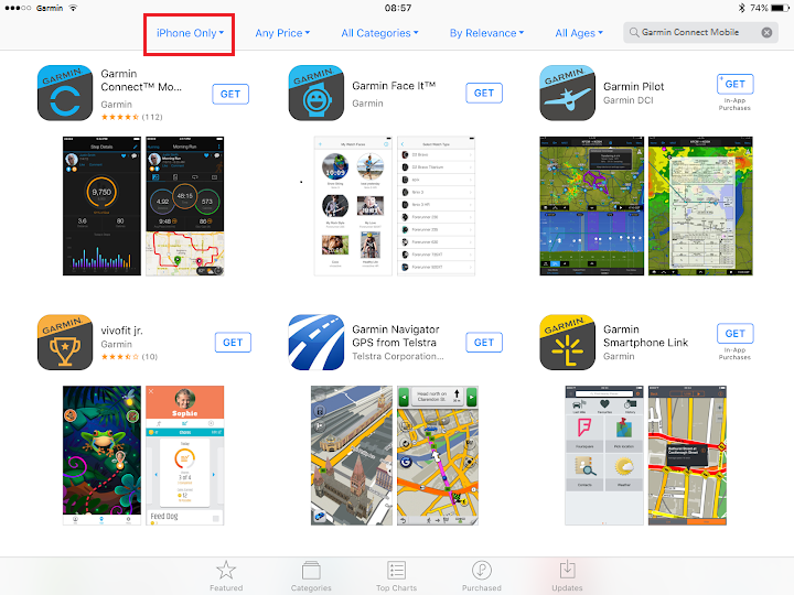 Garmin Apps Are Missing from the App Store on iPad | Garmin