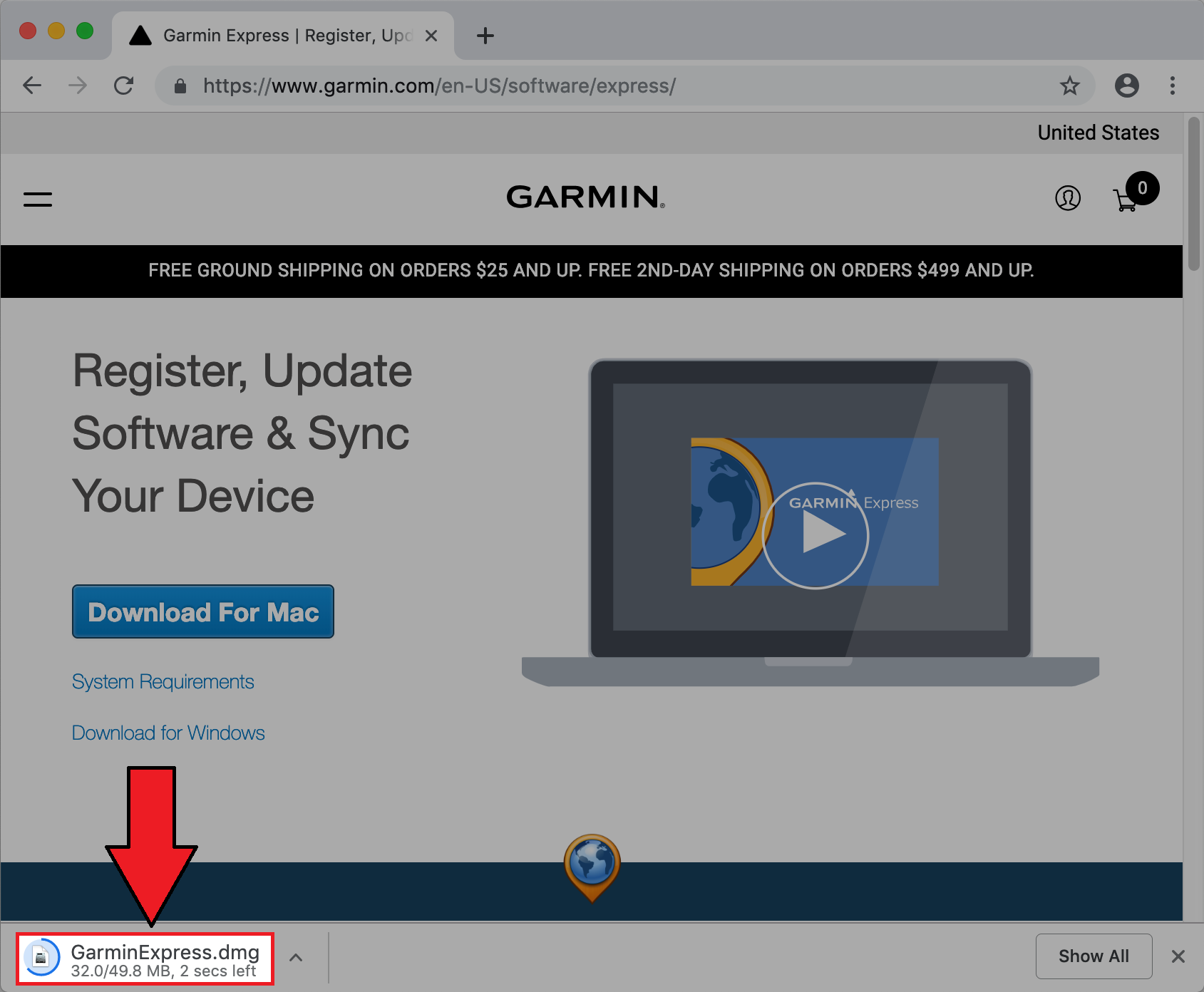 Opening a Downloaded File on Mac | Garmin Support