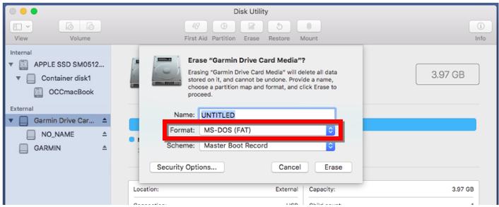 Formatting a microSD/SD Card on a Mac | Garmin Support Center