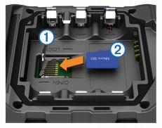 garmin micro sd kaart installeren Een microSD kaart installeren in een outdoor handheld toestel