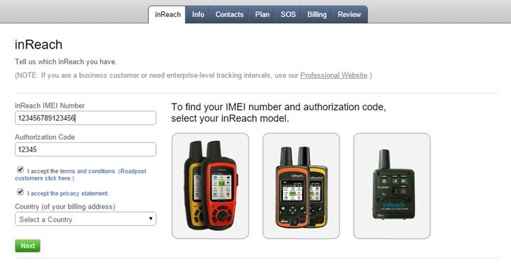 Activating a New inReach Device | Garmin Support-Center