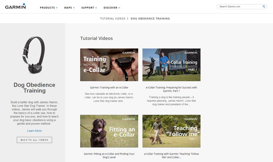 Dog Obedience Training Videos   Garmin Support