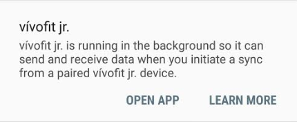 Why Am I Seeing a Persistent vivofit jr Notification on My